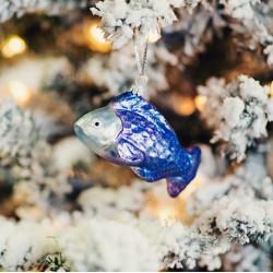 Vánoční rybka modro- fialová