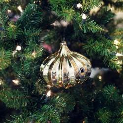 Vánoční ozdoba zlatá cibule Sia