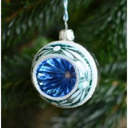 Vánoční koule s modrým dekorem