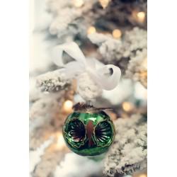 Vánoční koule - sova, 8 cm