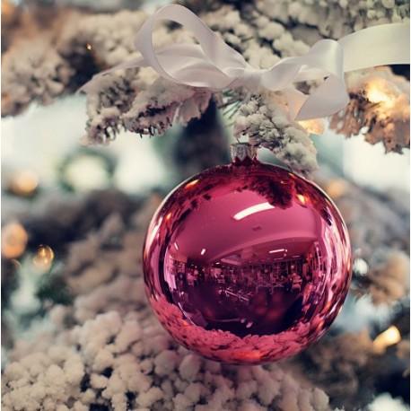 Vánoční koule růžová
