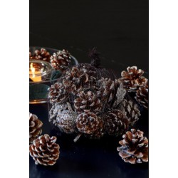 Dekorace šišky Majestic Pinecones s posypem