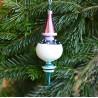 Vánoční ozdoba barevná s posypem