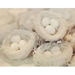 Dekorace - ptačí hnízdo s vajíčky