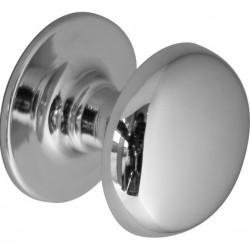 Úchytka - knopka chrom, L 3,5x4cm