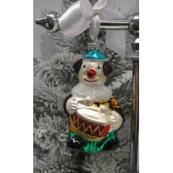 Vánoční ozdoba klaun, 12 cm