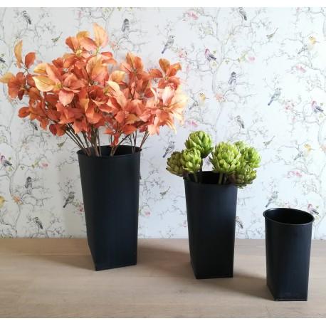 Plechový koš na květiny, vel. M, 40 cm