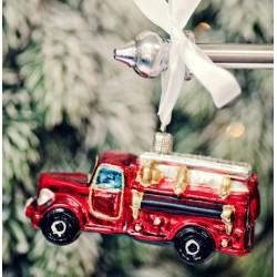 Vánoční ozdoba hasičské auto, 11 cm